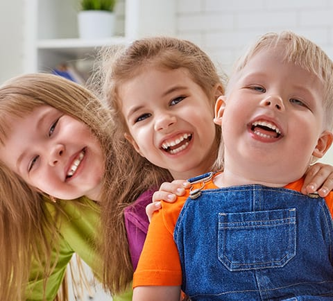 Little girls and boy joyful laugh | Pasadena Childrens Dentistry